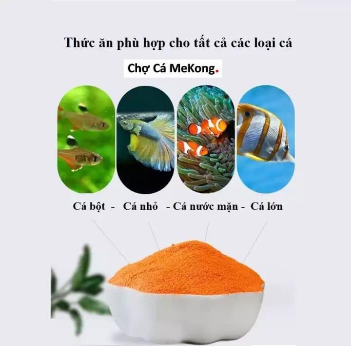 thức ăn phù hợp cho tất cả các loại cá cảnh